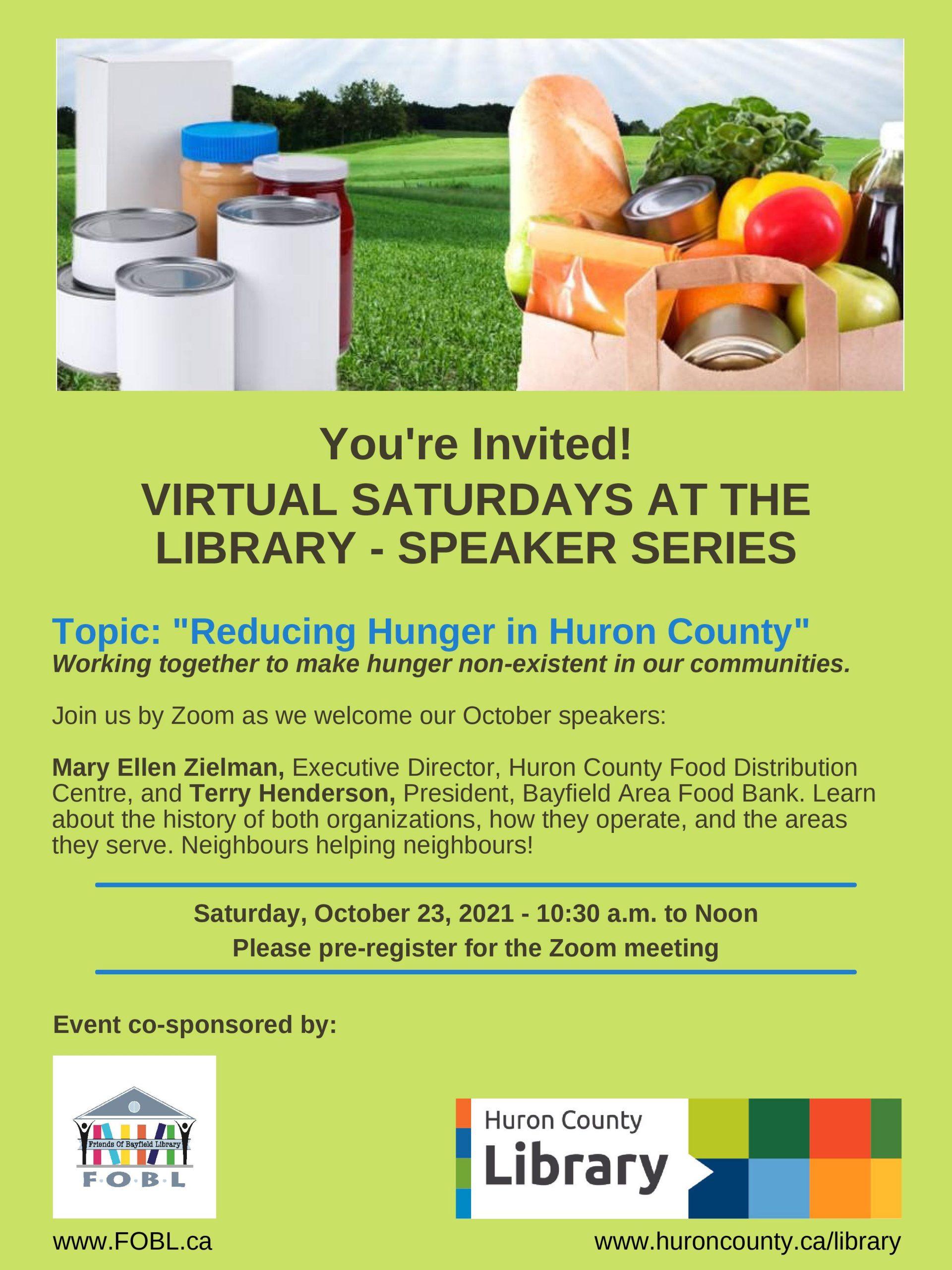 Virtual Saturdays at the Library – Fall Program